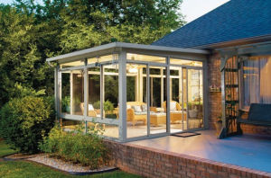 Customized Style Double Laminate Glass Aluminum Sunroom for Garden and Balcony pictures & photos