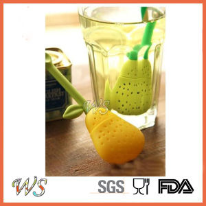 Ws-If053 Pear Tea Infuser Tea Filter Silicone Tea Strainer Food Grade pictures & photos