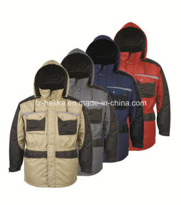 Heavy Canvas Quilted Cargo Parka Jacket pictures & photos