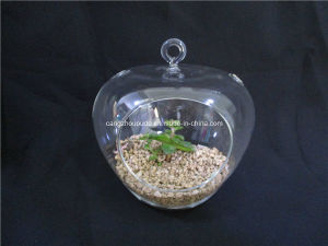 Christmas Decoration Transparent Hanging Glass Vase pictures & photos