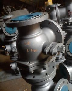 3-Way Valve L Type Ball Valves Flanged Ends pictures & photos
