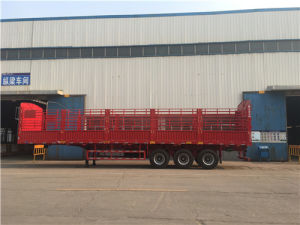 3 Axles Heavy Load Drop Side Trailer pictures & photos