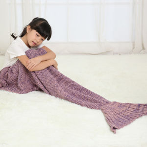 Customized Colors and Style Knit Mermaid Tail Blankets Sleeping Bag pictures & photos