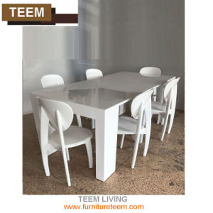 Modern Design Toughened Glass Top Extension Dining Table pictures & photos