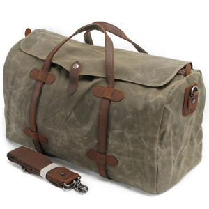 High Quality Travel Bags Luggage Canvas Duffel Bag Genuine Leather Ga08 pictures & photos