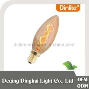 China C48 pear shape 60W amber classic light lamp pictures & photos