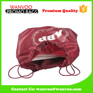 Stylish Customized Large Capacity Waterproof Polyester Drawstring Backpack with Handle pictures & photos