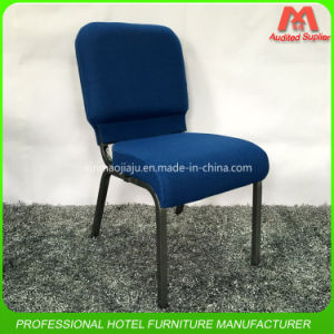 fashion Style Padded Connected Iron Steel Church Chair in Blue Colour