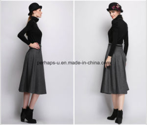 New Women Dress Wool Long High Waist Retro Skirt pictures & photos