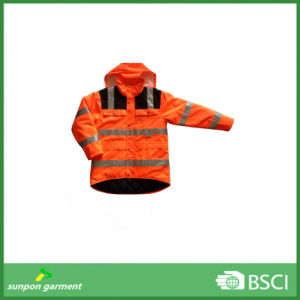 Eniso20471 Certificate Hot Sell Orange Reflective Security Jacket pictures & photos