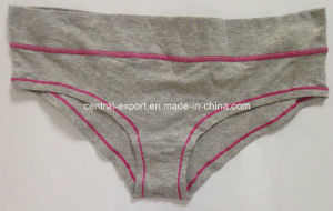 Cotton Plain Breathable Women Panty Lady Underwear pictures & photos
