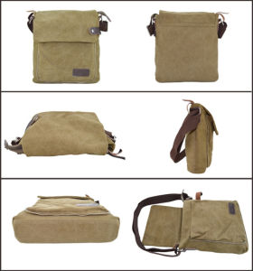 Genuine Leather Canvas Bag for Men pictures & photos