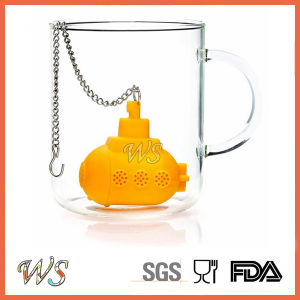 Ws-If059 Food Grade Silicone Submarine Tea Infuser Set Leaf Strainer for Mug Cup, Tea Pot pictures & photos