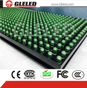 LED Display Panel for Outdoor Single Green Media Display pictures & photos