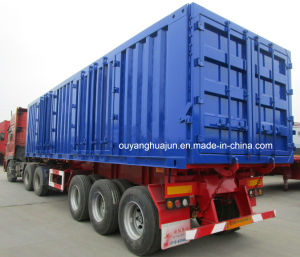 10 Meters Flatbed Match with 9.5 Meter Self Dump Semitrailer pictures & photos