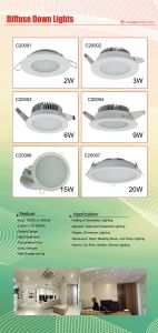 9W New Design Classic Looking LED Diffuse Down Light pictures & photos