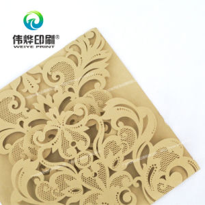 Pale Brown Craft Paper Printing Invitation Card with Carve pictures & photos