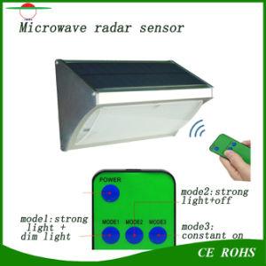 New Radar Sensor Solar Light 56LED 1000lm Aluminium Solar Garden Lights Outdoor Wall Light with Remote Control pictures & photos