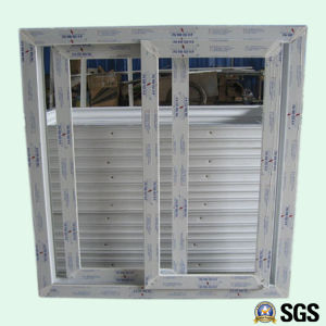 High Quality Conch Profiel White Colour UPVC Profile Sliding Window, UPVC Window, Window K02006 pictures & photos