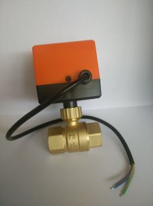 Brass Power Valve Pn16 Motorized Power Control Water Ball Valve pictures & photos