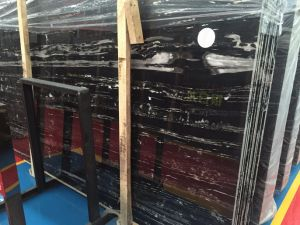 Stock A Grade Polished Silver Dragon White Black Marble Slabs pictures & photos