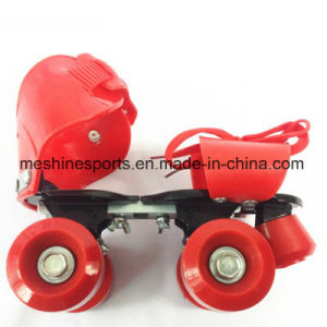 Cheap Promotional Gift Four Wheel Roller Skating Shoes pictures & photos