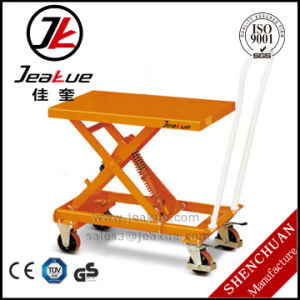 Easy Pedal Operated Mini Portable Scissor Lift Table pictures & photos