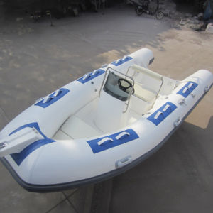 PVC/Hypalon Fiberglass Hull Inflatable Rib Boat with Console pictures & photos