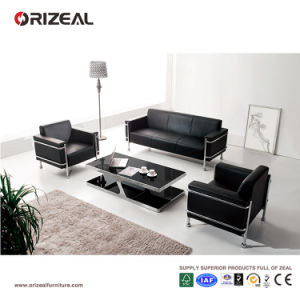 Orizeal Contemporary Design Leather Sofa, Three Seater Office Couch (OZ-OSF004) pictures & photos