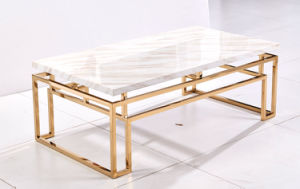 Golden Stainless Steel Coffee Table for Wedding Events Banquet pictures & photos
