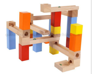 Custom Children Wooden Puzzle Building Block Toy with Channel Ball pictures & photos