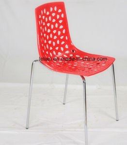 Cheap Public Plastic Stack News Chair, Restaurant Dining Chair (LL-0068) pictures & photos