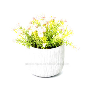 Flora Artificial Spring Flowers Bouquet in Cement Pot for Home & Office Decoration pictures & photos