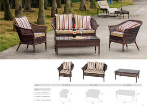 SGS Approvaled Factory Delux Patio Outdoor Wicker Sofa Set
