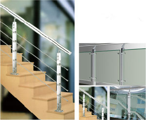 Side Mounted Stainless Steel Railing for Terrace (HR1345C-4) pictures & photos