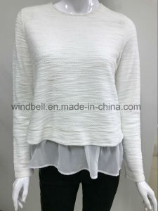 New Style Pullover for Women with Chiffon pictures & photos