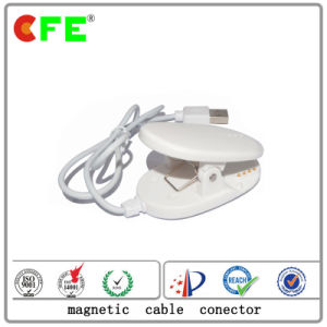 White 4pin Magnetic Connector with USB Cable for Security Gate pictures & photos