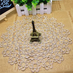 Factory Stock Wholesale 9cm Width Embroidery Nylon Lace Polyester Embroidery Trimming Fancy Lace for Garments Accessory & Beverage Coaster & Doily pictures & photos
