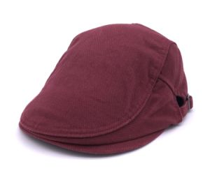 Cotton Twill Wine Red Flat Cap pictures & photos