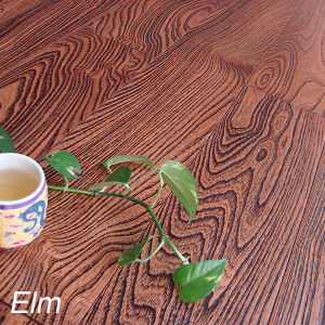 Hardwood Flooring Elm for Handscraped /Flat /Brushed Solid Wood Flooring pictures & photos