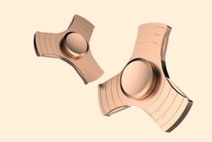 Customize Gift Toy Anti Pressure Finger Spinner Silver Metal Fingertip Gyroscope pictures & photos
