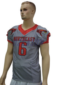 Professional Manufacturer Custom Sublimation American Football Uniforms (AF017) pictures & photos
