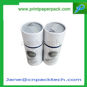 Custom Coated Paper Gift Tube Box Round Boxes Fruit Tea Dried Food Packaging Box pictures & photos