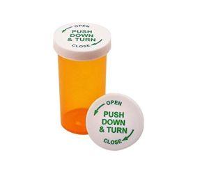 Amber Prescription Pharmacy Spice Flip Cap Vials 8 DRAM Vials with Reversible Caps pictures & photos