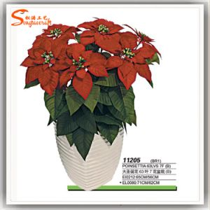 2016 Hot Sale Artificial Plastic Christmas Bonsai Silk Flower pictures & photos