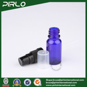 10ml Cobalt Glass Spray Bottles with Black Lotion Pump Sprayer pictures & photos