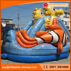 2017 High Quality 0.55mm PVC Tarapulin Inflatable Turtle Slide (T4-699) pictures & photos