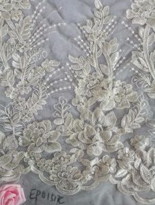 Embroidery Bridal Wedding Dress Fabric pictures & photos