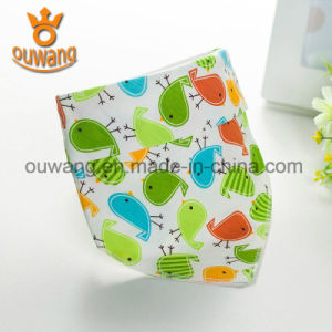 OEM Packing and label Unisex Super Absorbent Cotton Baby Bandana Drool Bibs pictures & photos