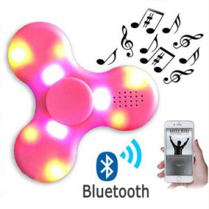 Bluetooth Speaker Fidget Hand Finger Tri Spinner with LED Light pictures & photos